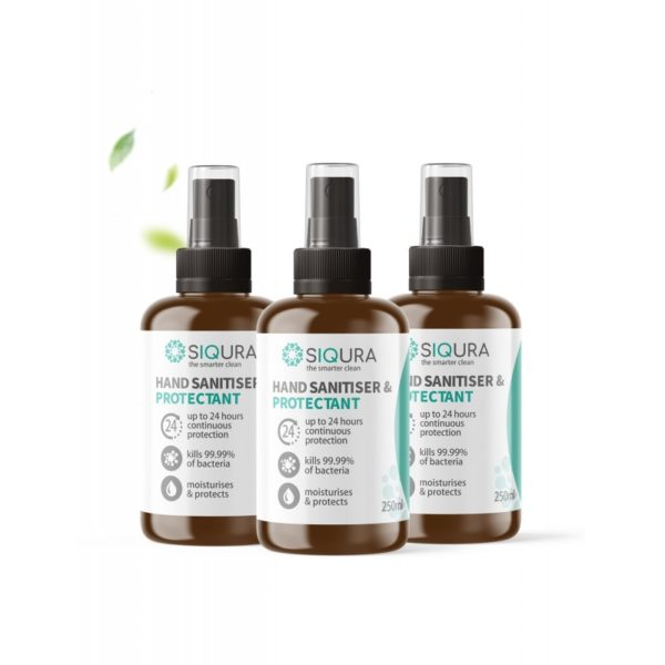 Siqura Hand-Sanitiser-Protectant-250ml (3 Bottles)