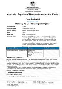 Therapeutic Goods Certificate
