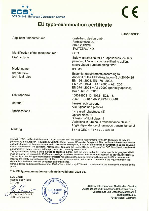 CE-M3-IPL Shutter Glass