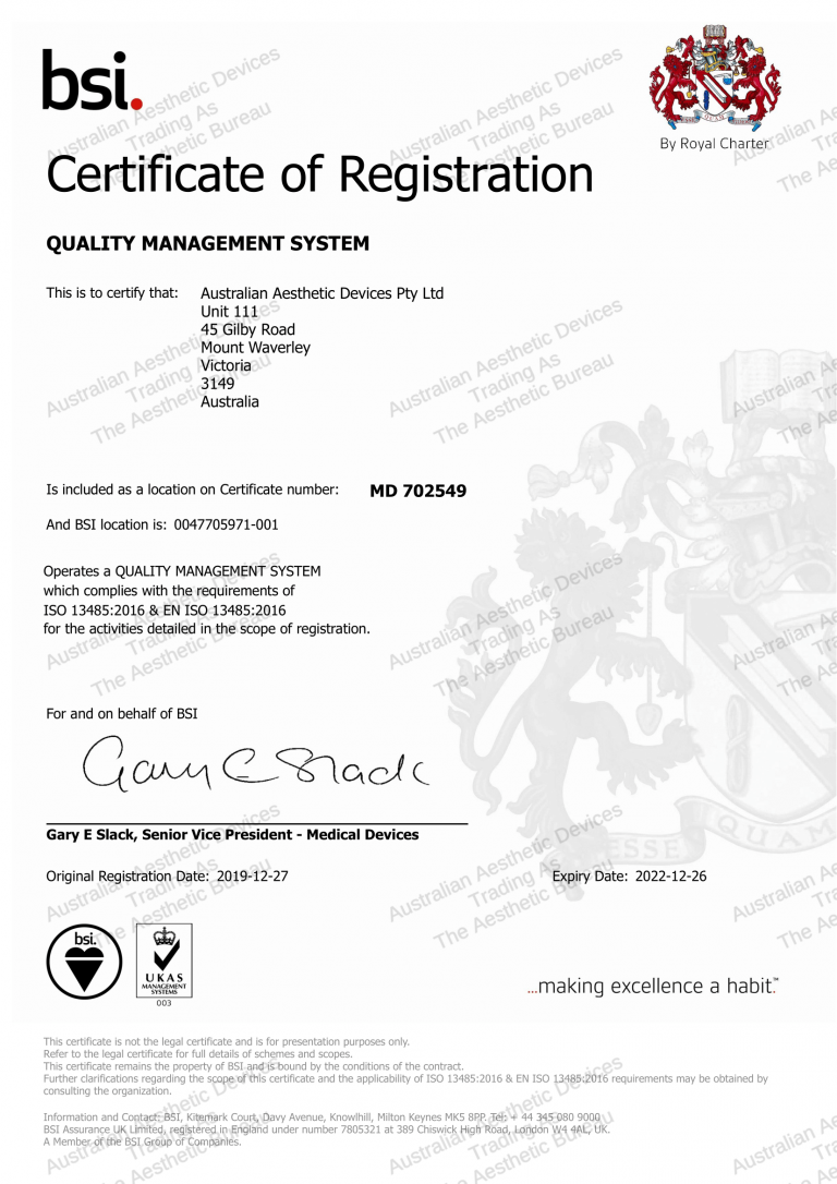 BSI Certification of Registeration